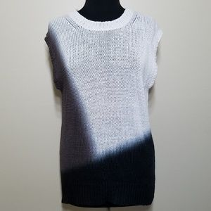J Crew Knit Top Dip Dyed Crew Neck Linen Sweater S